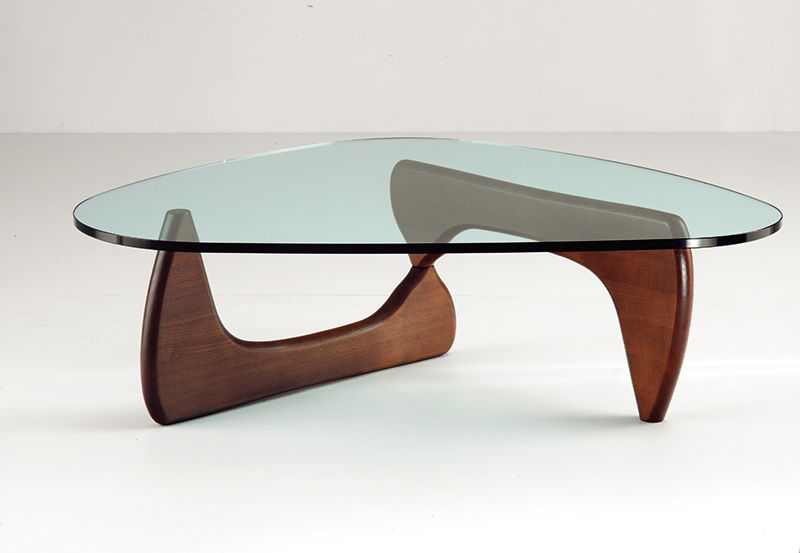 To Create This Coffee Table, Nogushi Used Two Identical Wooden Elements,  One That Is Reversed And Theother One Is Pointing Down. The Color Of The  Table Is A ...