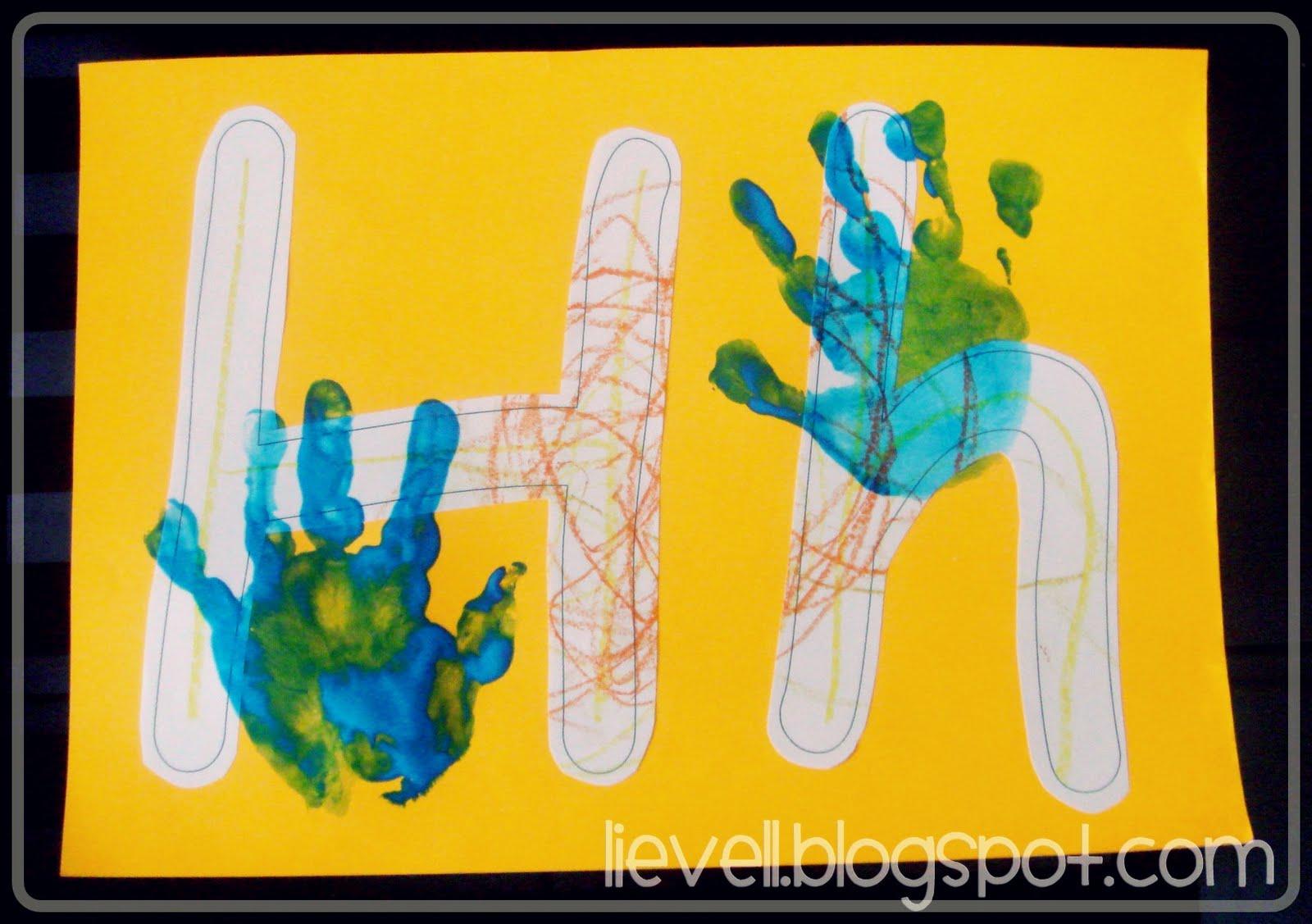 Art Letter H Handprint