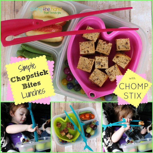 """Chomp Stix"" chopsticks bite-sized lunches!"