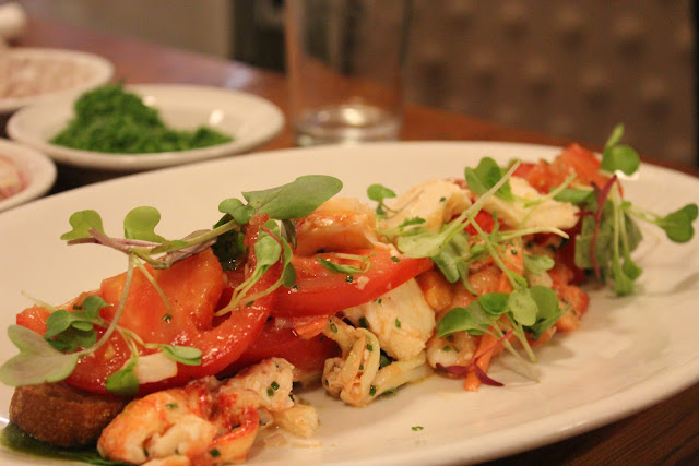 Lobster caprese salad by chef Michael Serpa