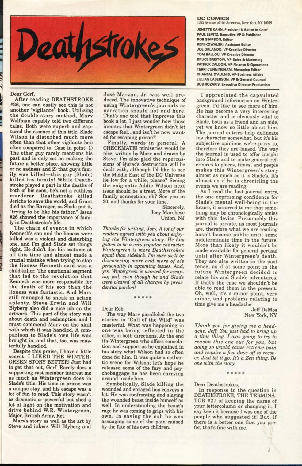 Deathstroke (1991) Issue #31 #36 - English 26