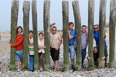 posing groups of people