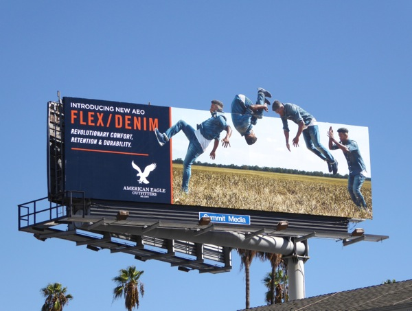 AEO Flex Denim somersault special extension billboard