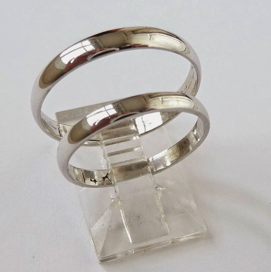14k White Gold Wedding Ring Sets Vintage Model pictures hd