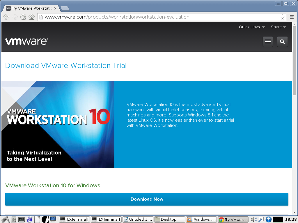 vmware how to download an os