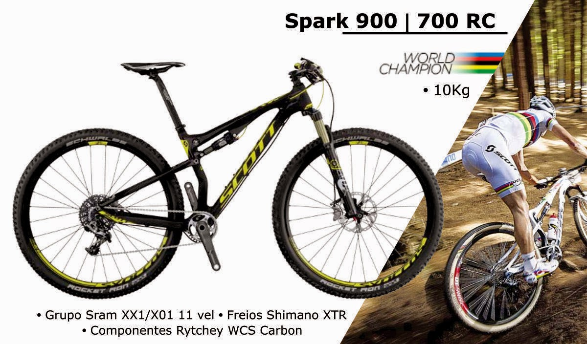 Bicicleta Scott Spark 900 / 700 RC 2015