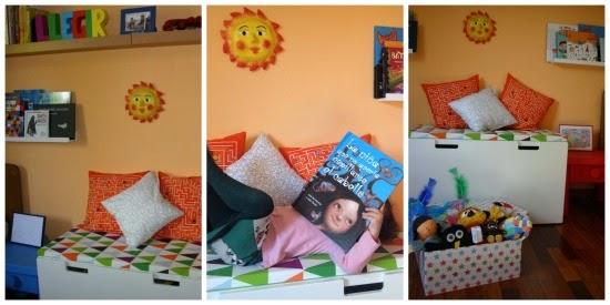 Racó de lectura infantil per fomentar la lectura