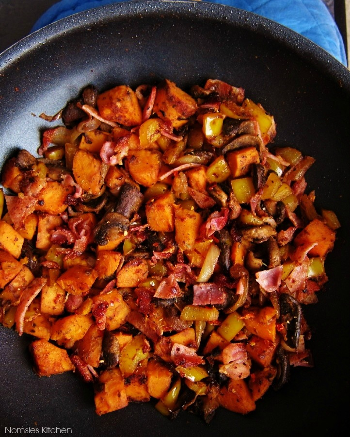 Sweet Potato Hash with Bacon Recipe from Nomsies Kitchen
