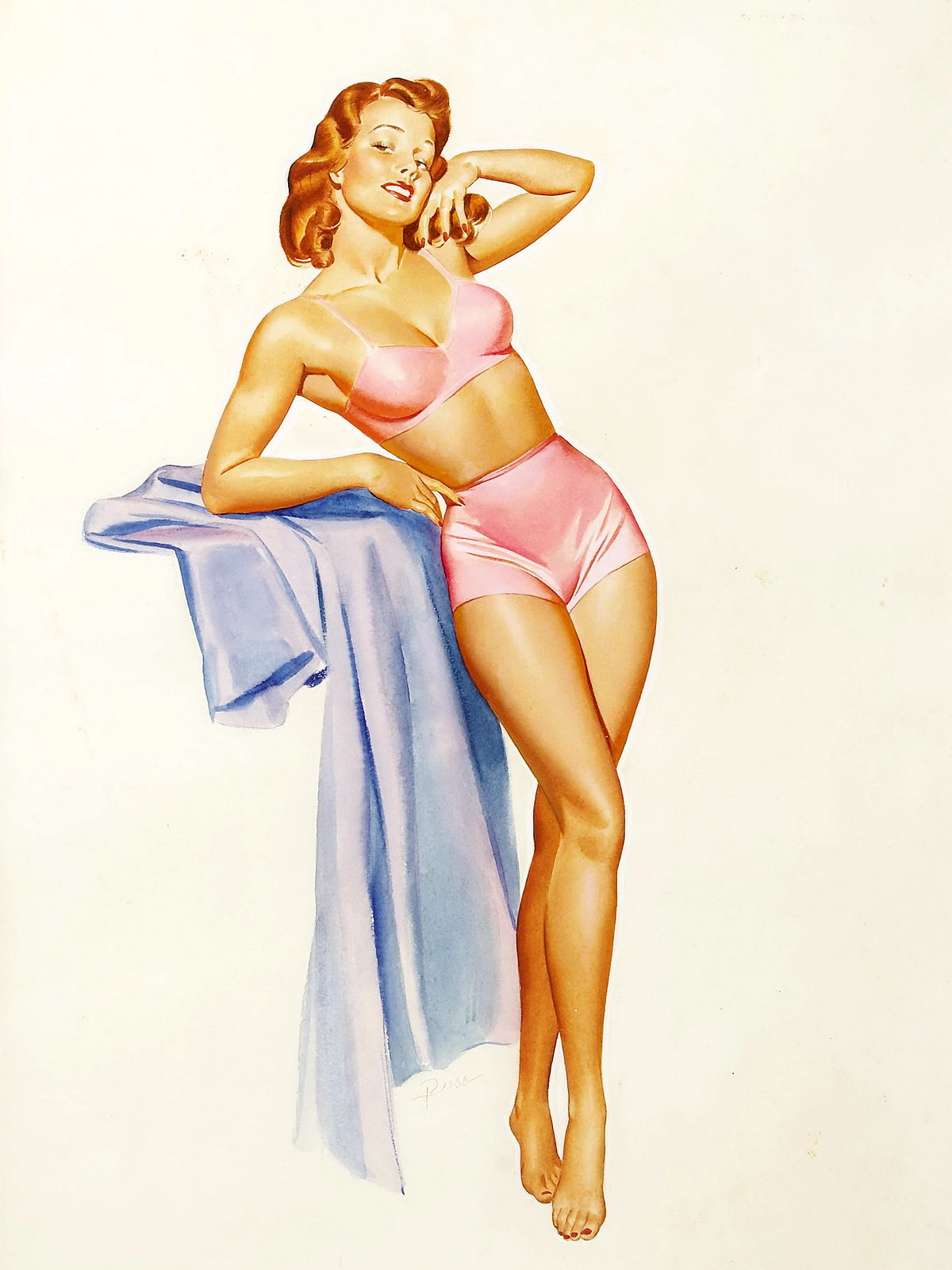 Pin Up and Cartoon Girls Art Vintage and Modern