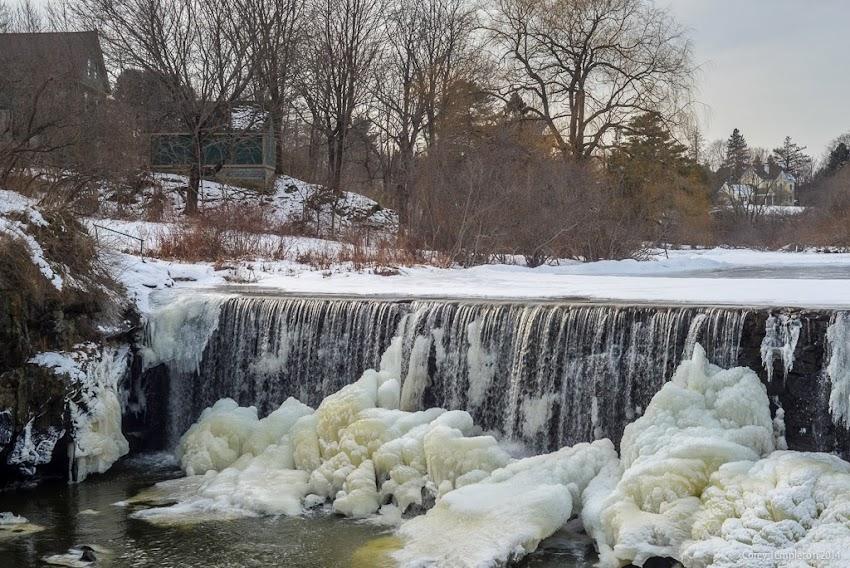 Portland, Maine Stroudwater Dam Winter February 2014 Photo by Corey Templeton