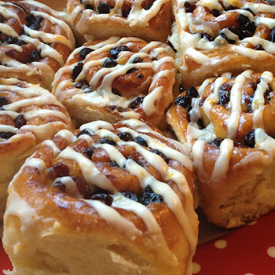 Orange & Cranberry Chelsea Buns