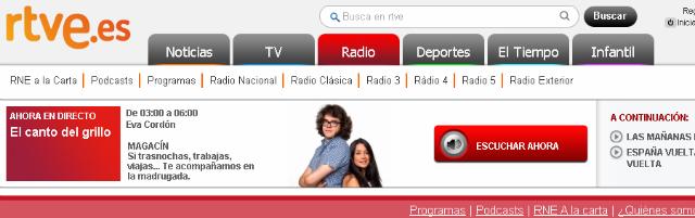 Rtve + Las más importantes emisoras de radio de España