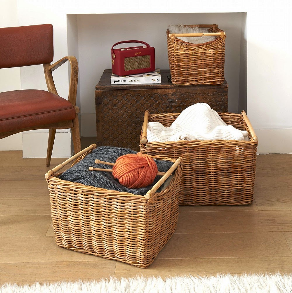 lined storage basket design