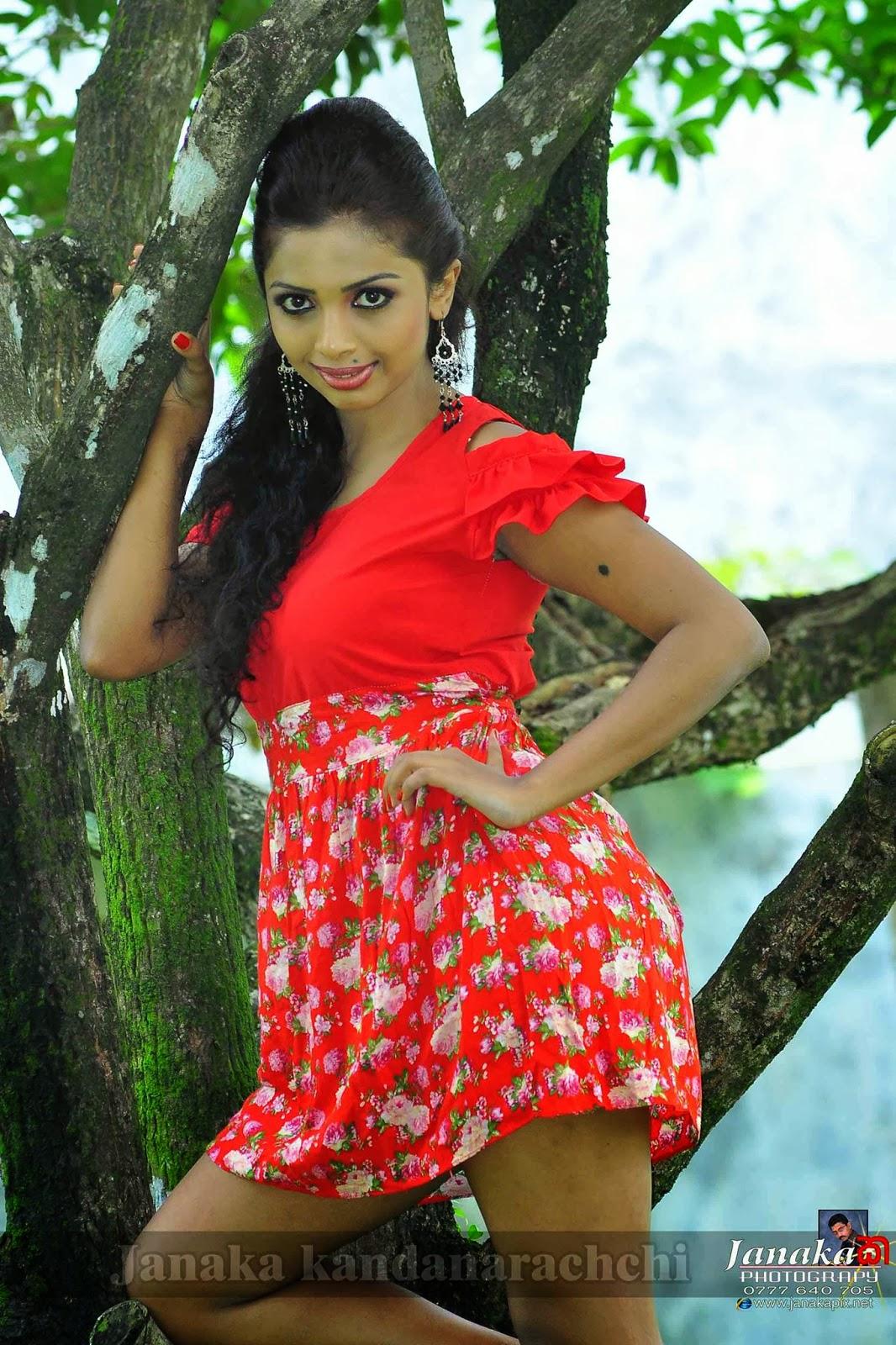 Lakshika Jayawardhana sexy legs