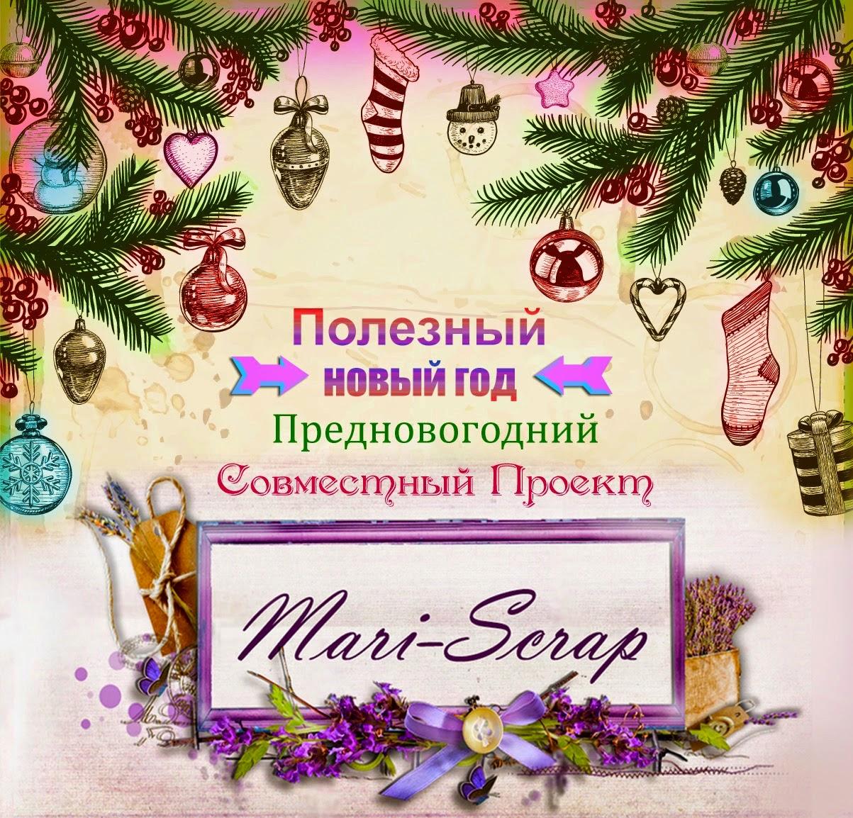 """Участвую в СП """"Полезный Новый Год"""" с блогом Mari-Scrap"""