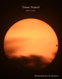 A photograph of the 2004 transit of Venus