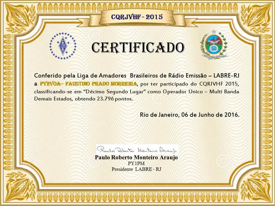 CQRJVHF 2015 - CERTIFICADO