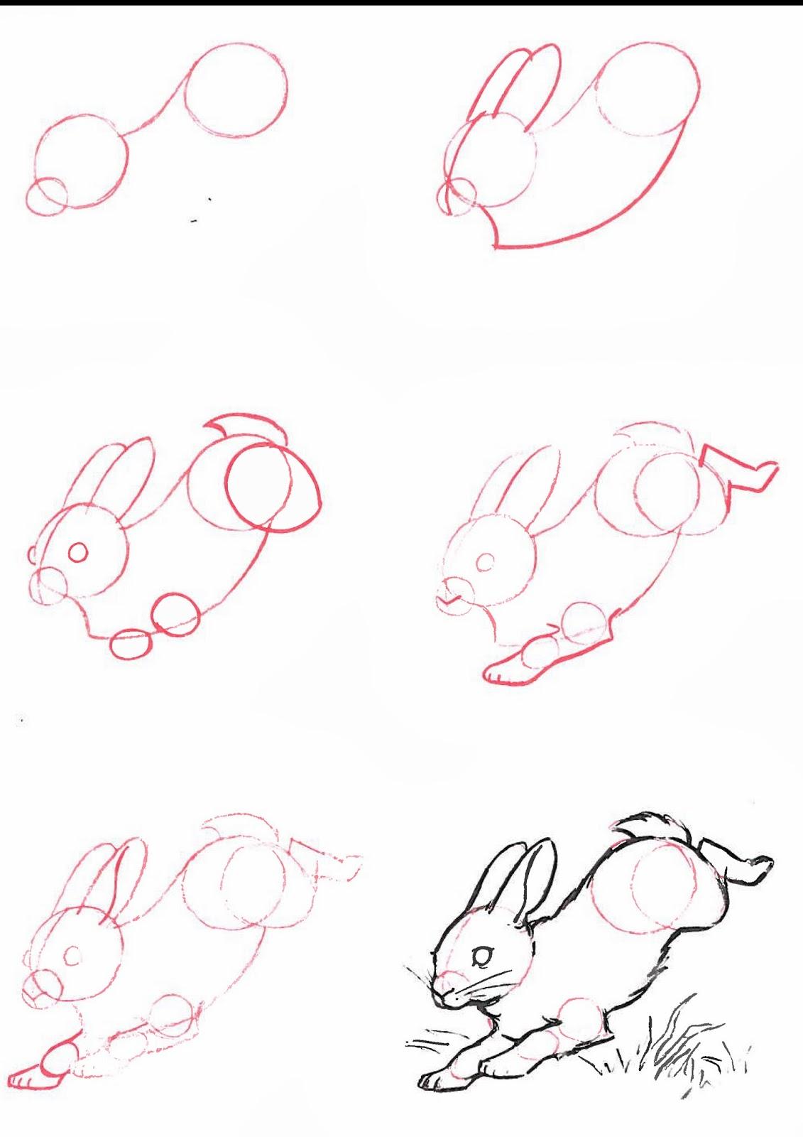 Рисуем заяц поэтапно