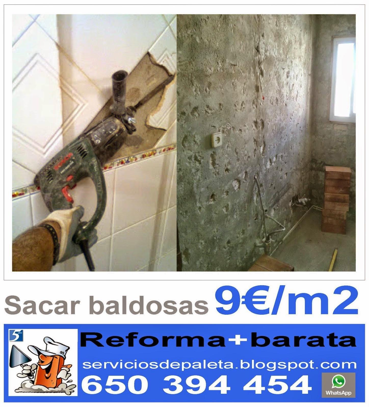 Quitar Baldosas Baño:Servicios de arquitectura y construcción Serviciosdepaleta: Reforma