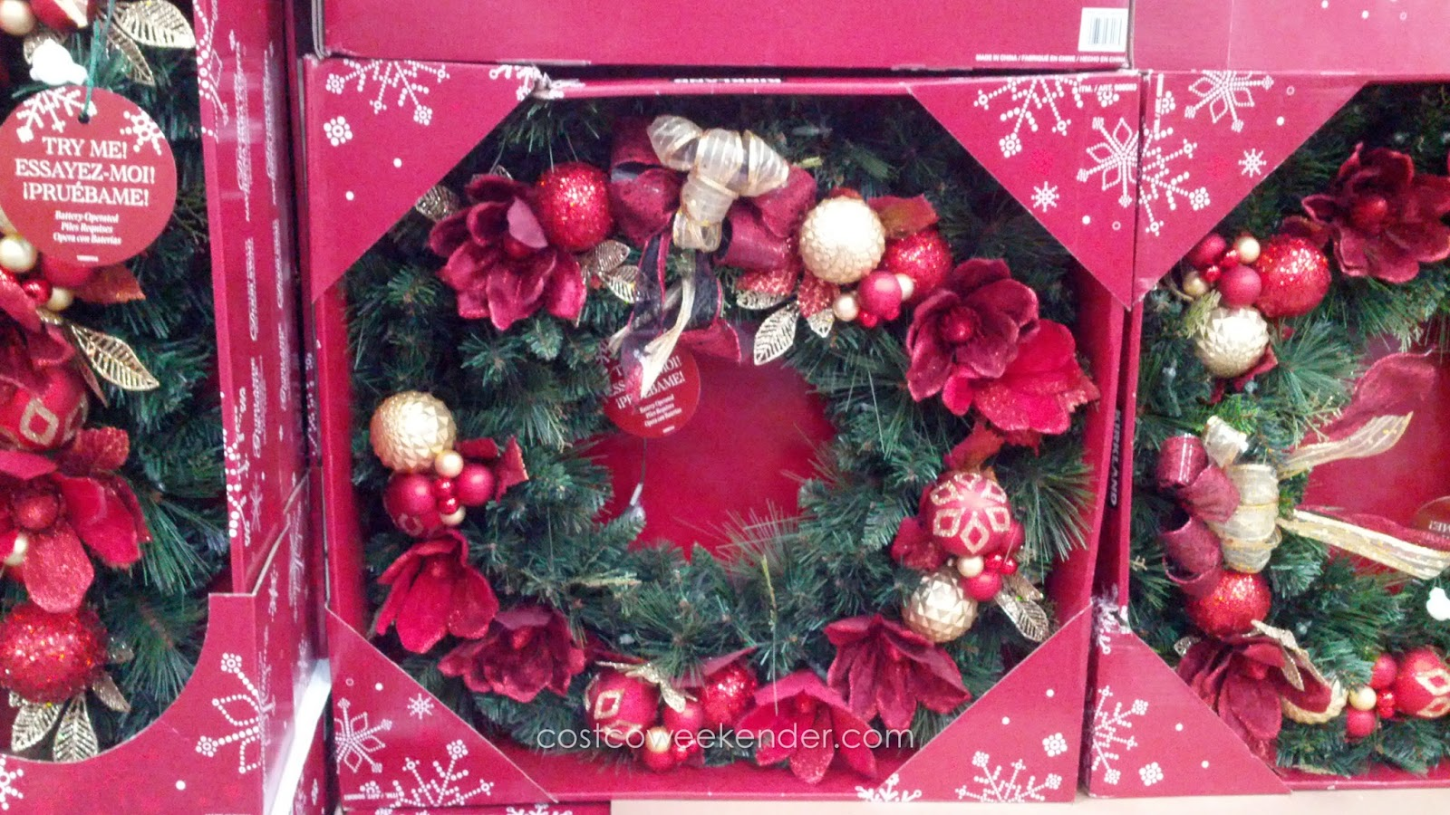 Kirkland Signature 32-inch Decorated Christmas Wreath | Costco Weekender
