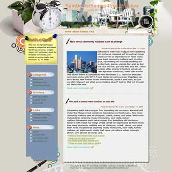 Vigorous City blogger template. converted WordPress to Blogger template. music template blog