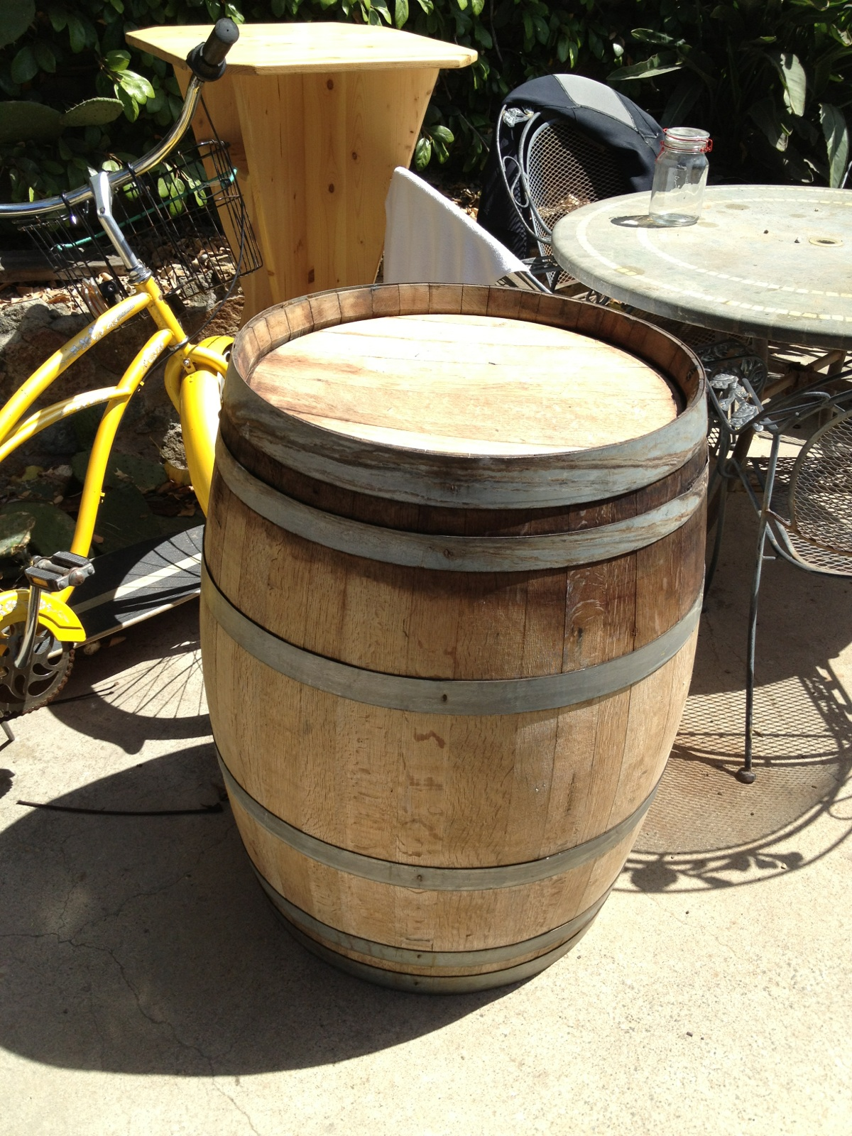 Whiskey Barrel planter project