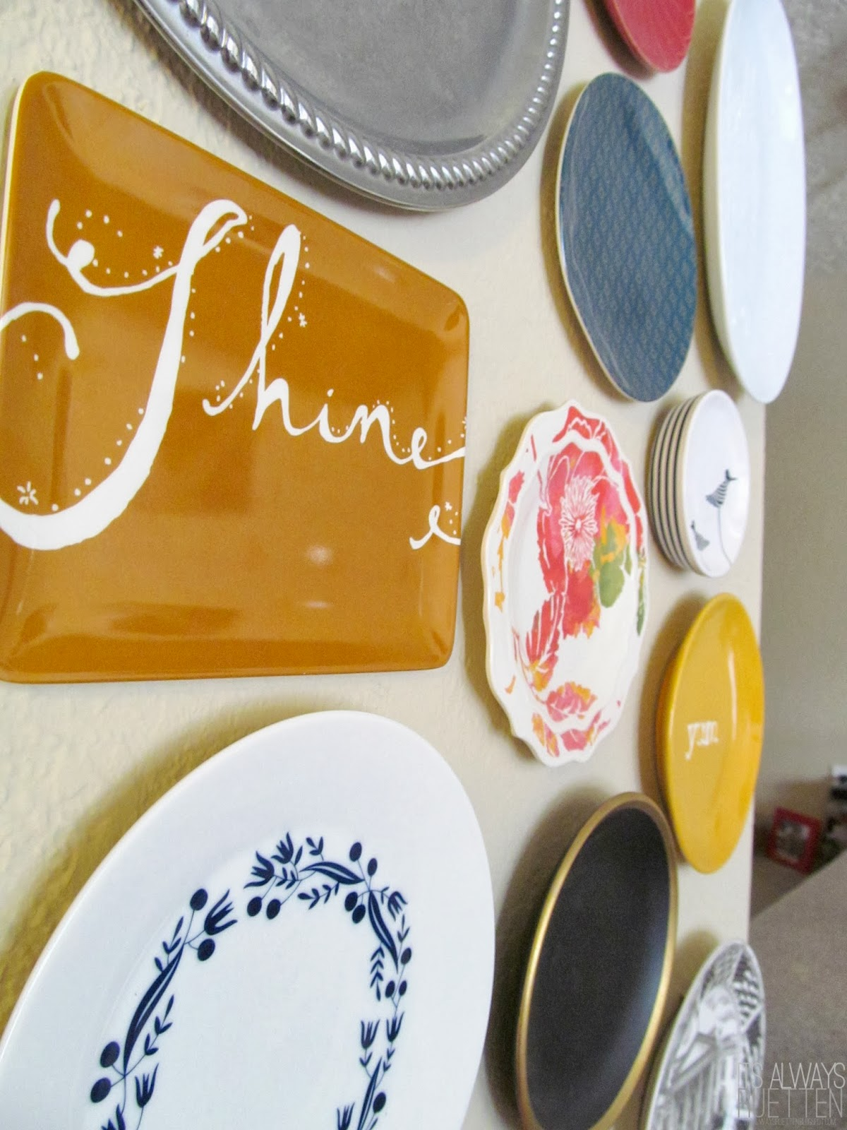 How to hang plates damage free for a rental (or just a cleaner look).