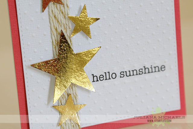 Hello Sunshine Card by Juliana Michaels featuring Therm O Web Deco Foil and Adhesives