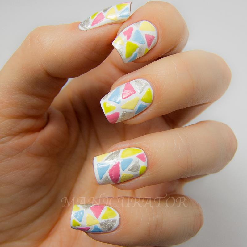 manicurator: Nail Candy Pen Triangle Mosaic Nail Art - Geometric ...