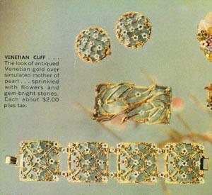 Vintage Venetian Cuff Jewelry Set