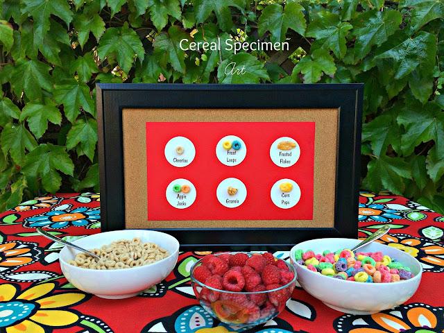 Fun Breakfast Idea, Cereal Specimen Art www.jacolynmurphy.com