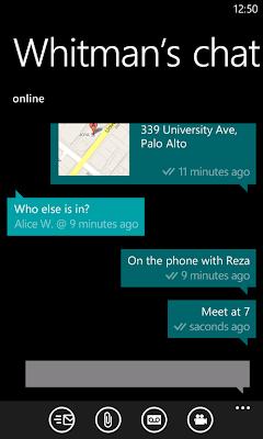 WP7 whatsapp messenger