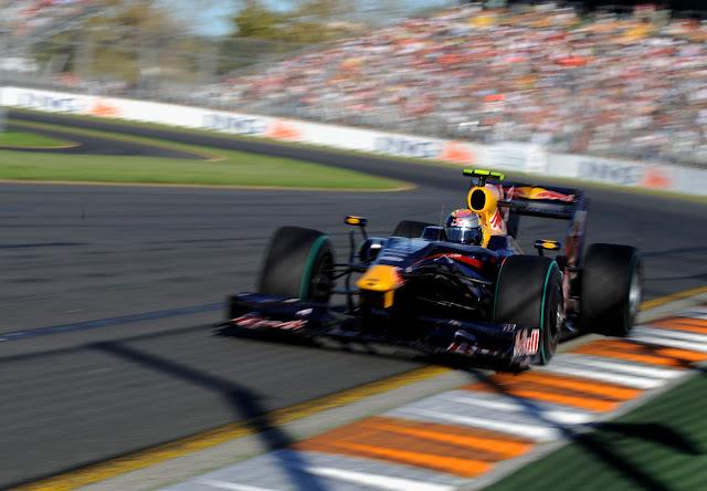 Sebastian Vettel, campione di Formula 1 2012, al Gran Premio di Melbourne nel 2009