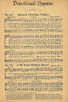 Antique Hymn Book Page - Onward Christian Soldiers via Knick of Time