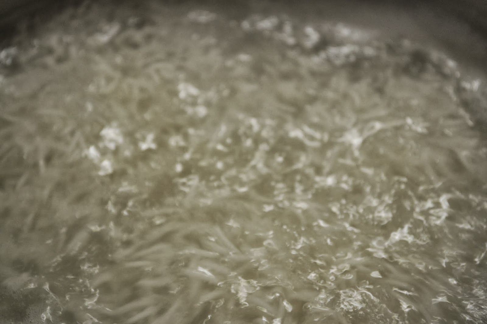 rice coming to a boil