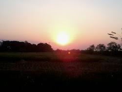 Sunset Indah di Desa Ciwaringin, Karawang