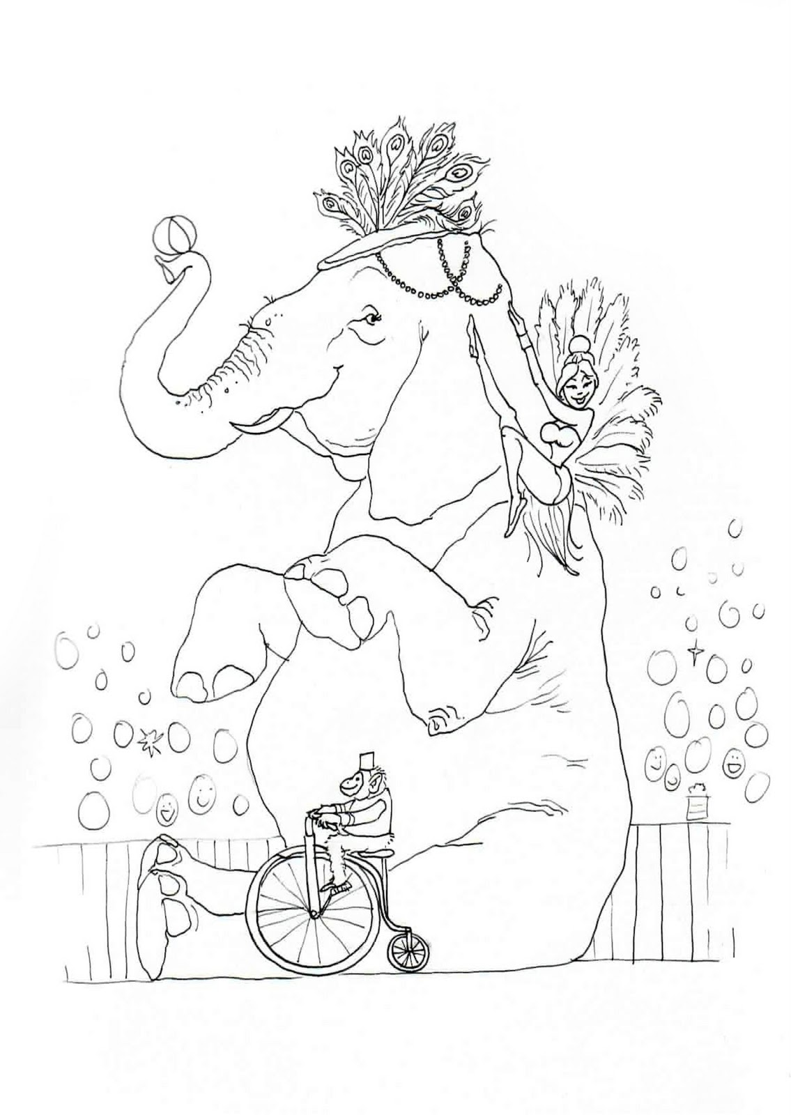 lovetheprimlook2 circus elephant coloring pages