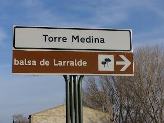 Señal Balsa de Larralde Torre Medina Zaragoza