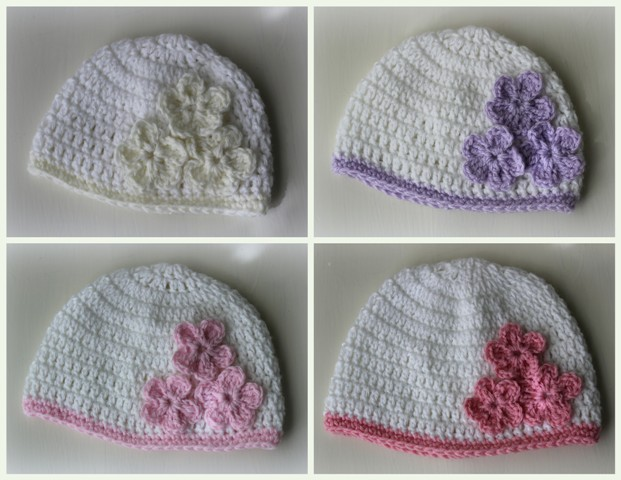 Lacy Crochet: Baby Hat with Three Flowers, Pattern Giveaway