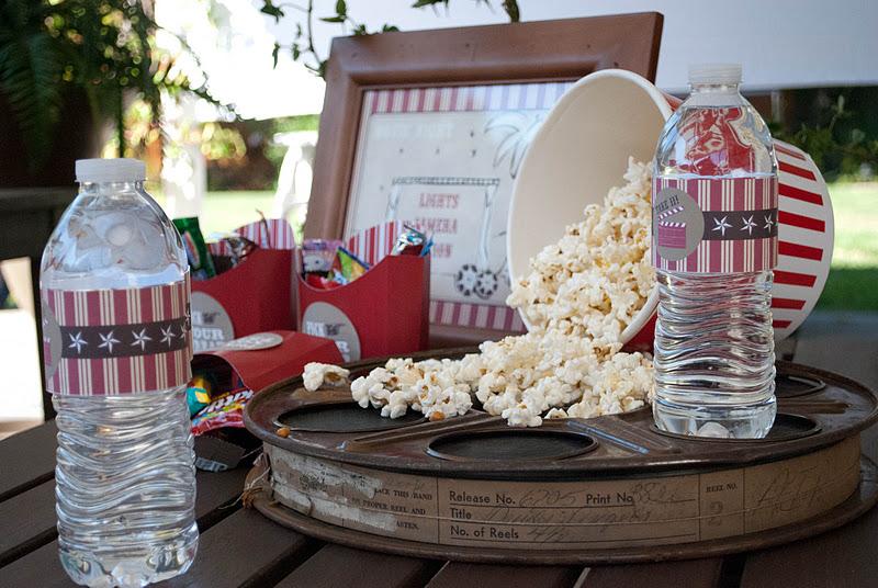 Kara 39 s party ideas outdoor movie birthday party kara 39 s for Decoration cinema