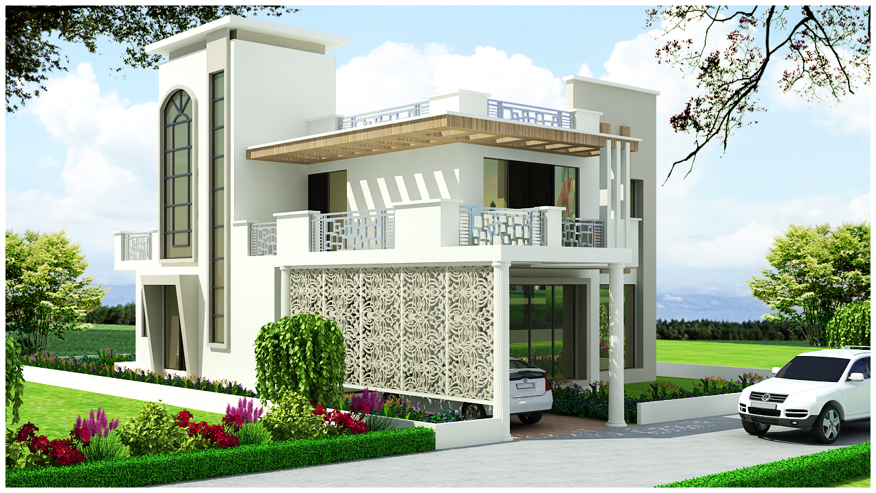 Small And Beautiful House Elevation on india front house design
