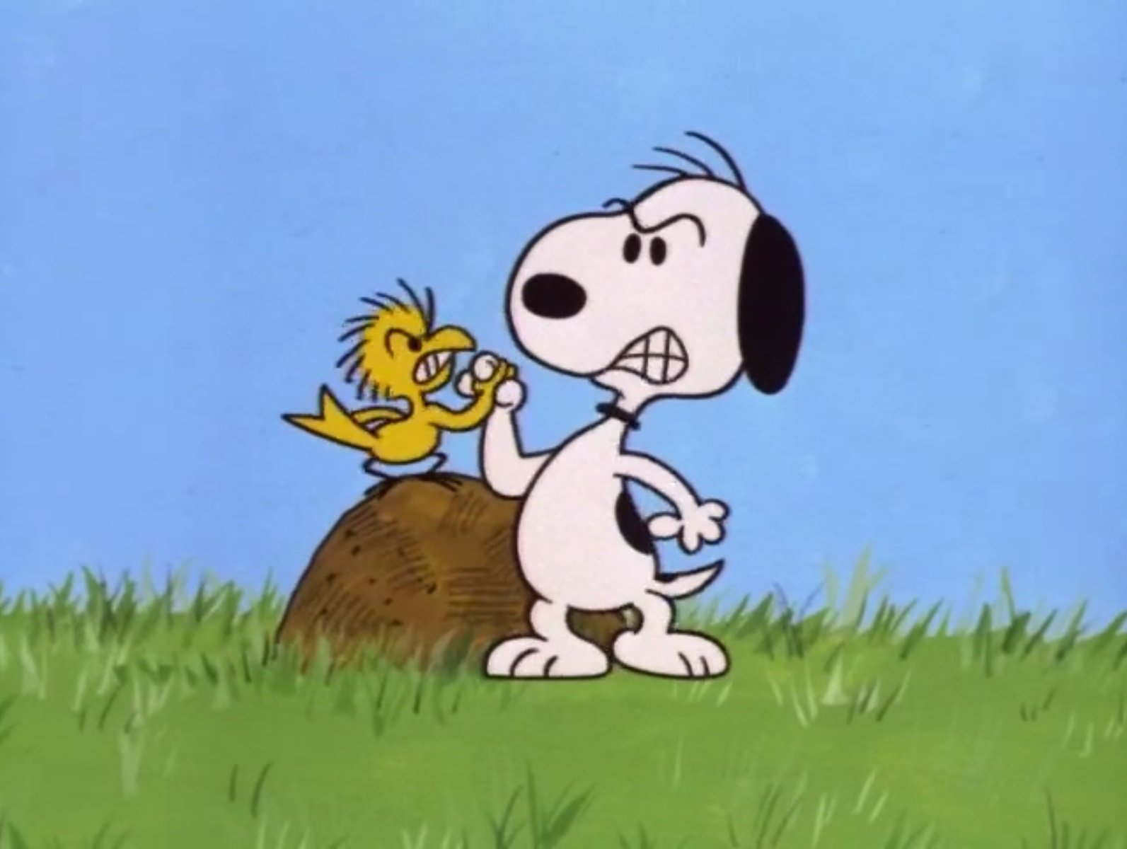 As Part Of His Training, Snoopy Wrist Wrestles A Bird That Could Be  Woodstocku0027s Tougher Brother!