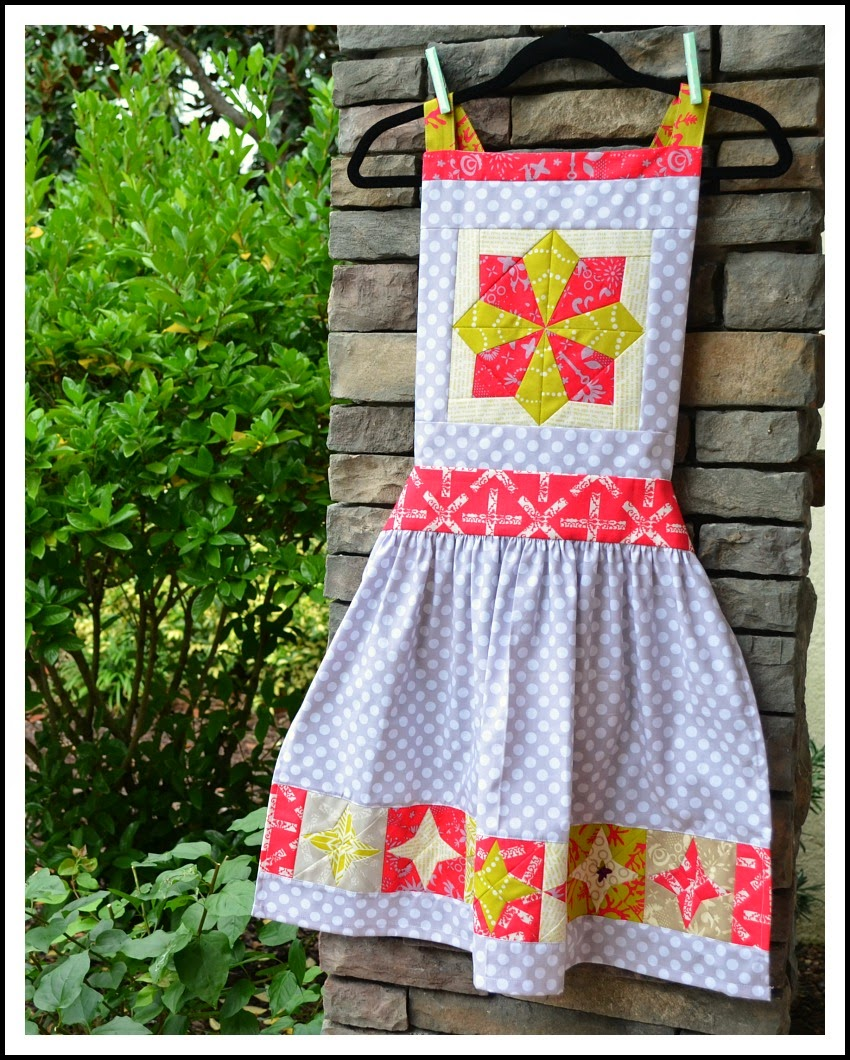 holiday apron celestial pattern alison glass fabric the sewing chick blog