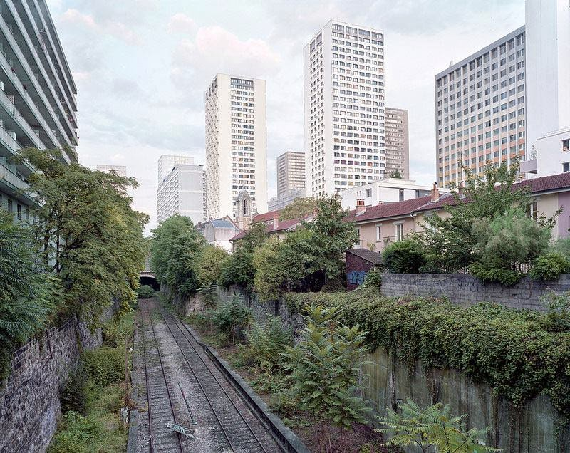 Paris abandoned Ring Railway Track Chemin de fer de Petite Ceinture, stretching 32 kilometers, connecting all major railway stations within the city walls during the Industrial Revolution.