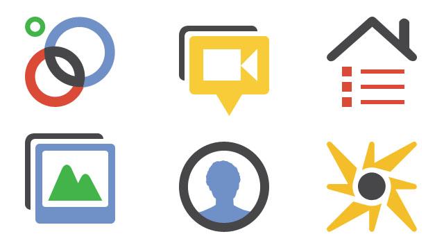 Screenshot: Google+ Icons