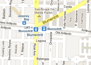 LRT-1 Blumentritt Station Map