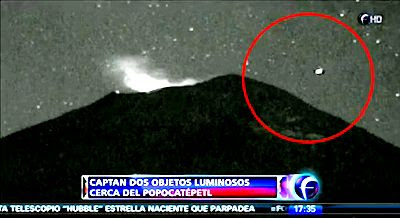Have UFOs Returned To The  Popocatpetl Volcano 2-7-13