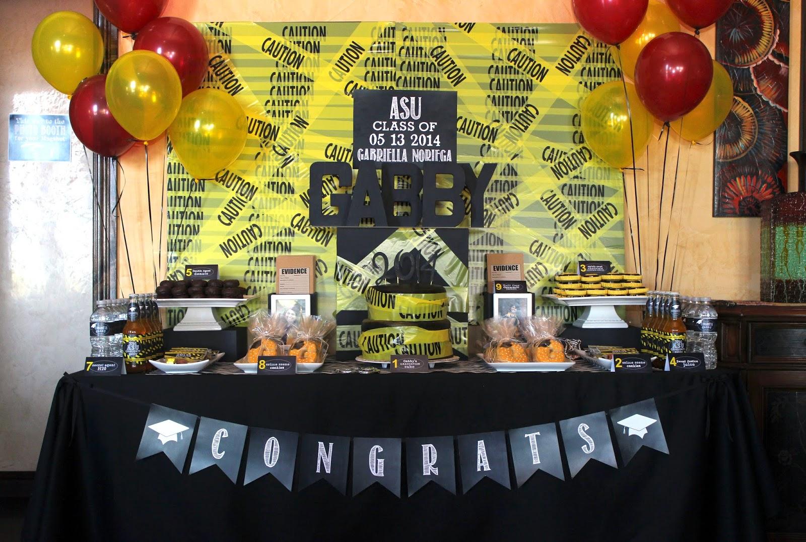 2014 graduation decorations -  Party Bee Gabby S Criminology Graduation Party