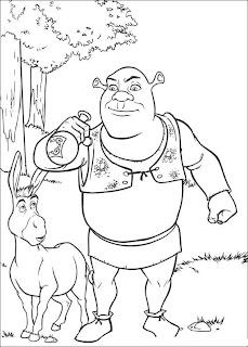 Shrek Coloring Pages