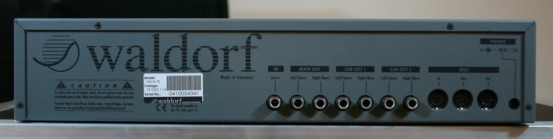 Waldorf Micro Q file: Waldorf MicroQ manual- Audiofanzine